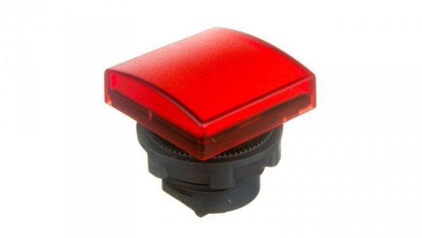Główka lampki sygnalizacyjnej 30x30mm kwadratowa 22mm czerwona ZB5CV043
