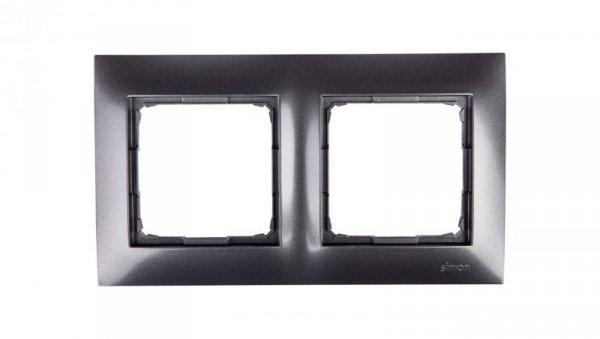 Simon 54 Premium Ramka podwójna antracyt /do karton-gips/ DRK2/48
