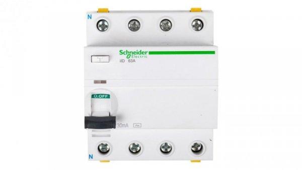 Wyłącznik różnicowoprądowy 4P 63A 0,03A typ AC iID A9Z11463