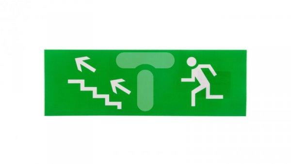 Piktogram Droga ucieczki w lewo do gory 100x300 PM11