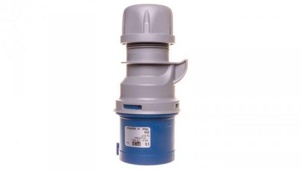 Wtyczka przenośna 32A 3P 400V niebieska IP44 TURBO SHARK 023-6TT