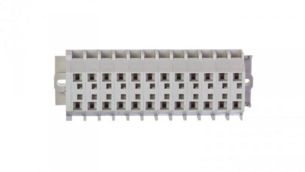 Listwa zaciskowa 12-torowa 2-przewodowa ExeII 4mm2 z uchwytami montażowymi fi 3,2mm jasnoszara 262-142