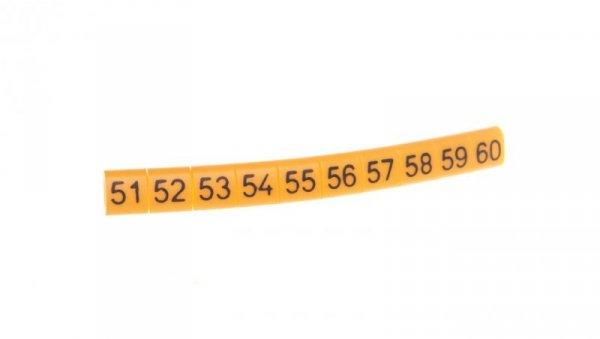 Oznacznik przewodów OZ-0/51-60 E04ZP-01020101600 /100szt./