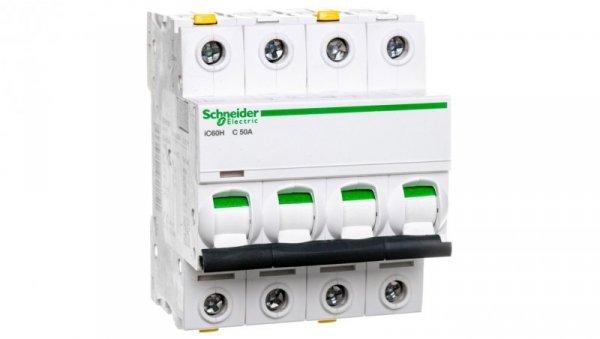Wyłącznik nadprądowy 4P C 50A 10kA AC iC60H-C50-4 A9F07450