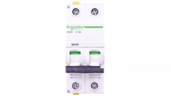 Wyłącznik nadprądowy 1P+N C 16A 10kA AC iC60H-C16-1N A9F07616