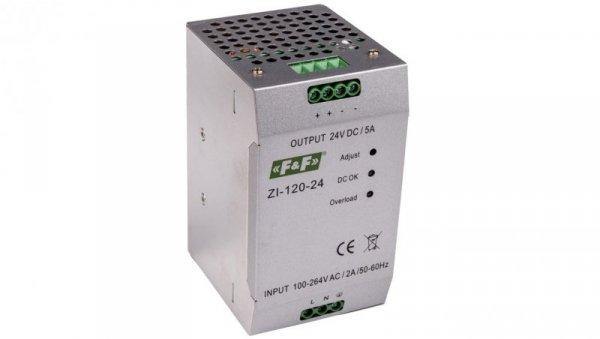 Zasilacz impulsowy 230VAC/24VDC 120W 5A ZI-120-24V