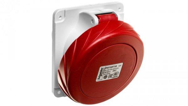 Gniazdo tablicowe 5P 32A 400V czerwone IP67 PKF32F735