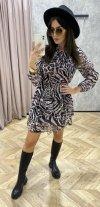 szyfonowa sukienka mini z wiązaniem