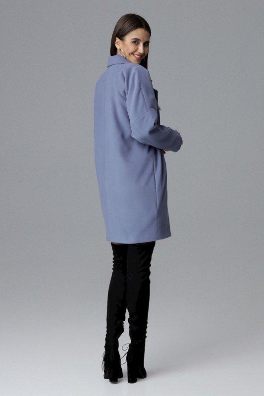 Płaszcz Damski Model M623 Blue - Figl