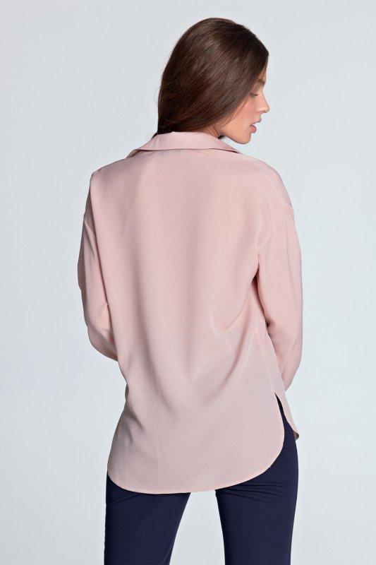 Koszula oversize K53 Pink - Nife
