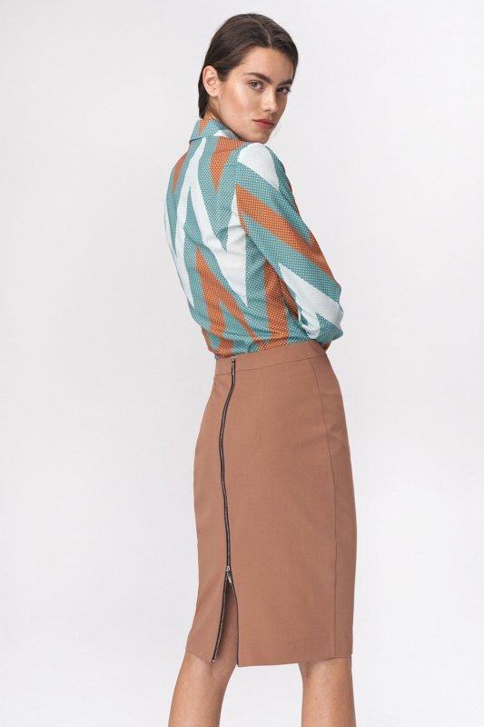 Bluzka koszulowa body B113 Zygzak - Nife