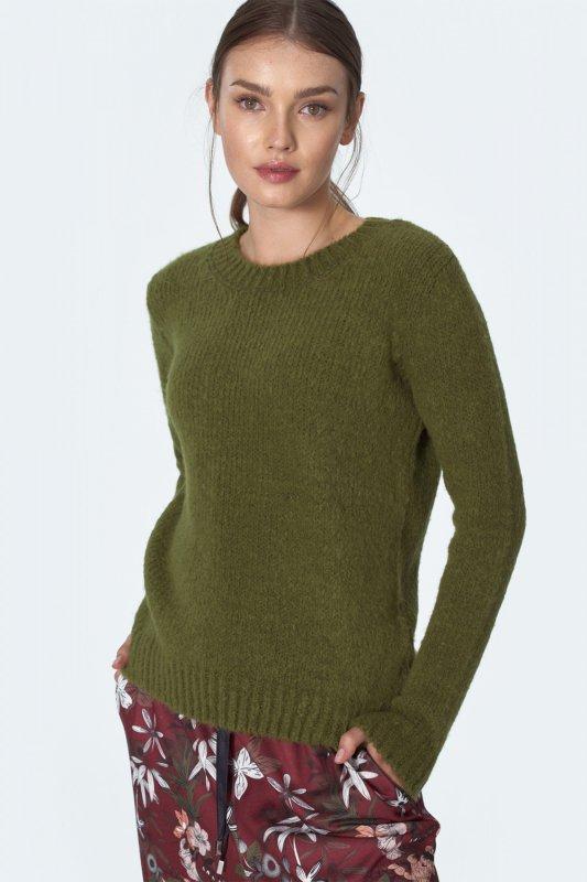 Klasyczny zielony sweter SW07 Green - Nife