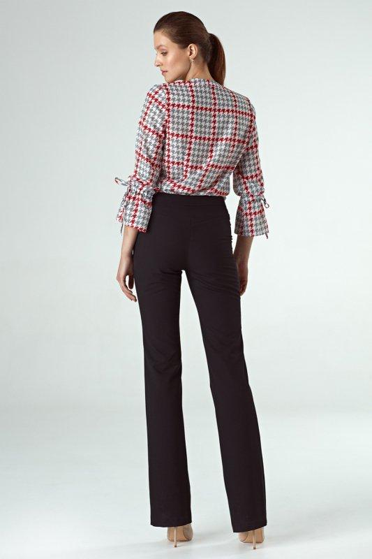 Czarne spodnie bootcut SD57 Black - Nife