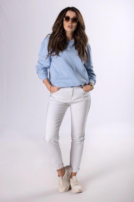proste jeansy z lampasem