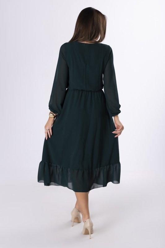 szyfonowa sukienka midi