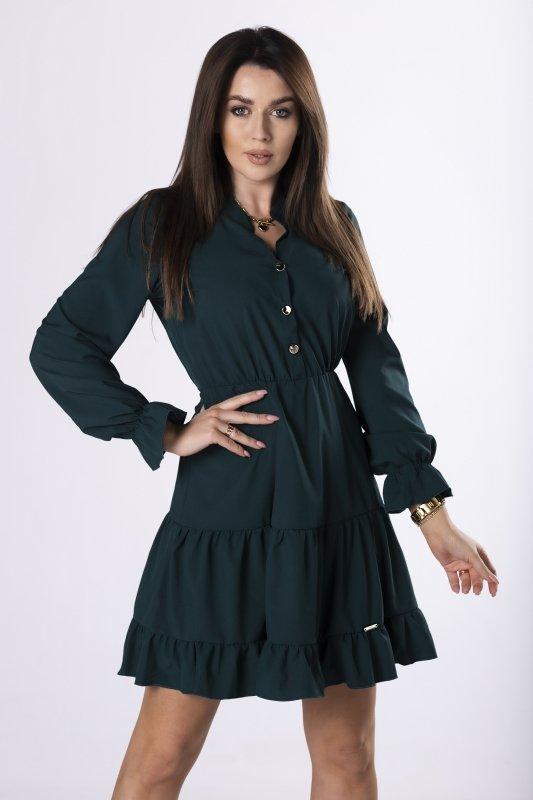koszulowa sukienka z dekoltem V