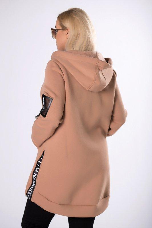 długa bluza z suwakami na bokach
