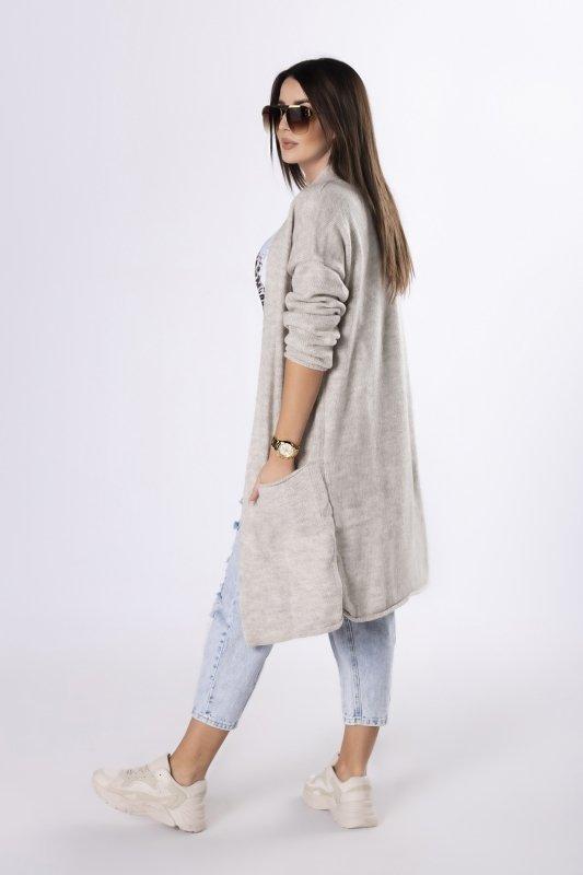 długi sweter bez zapięcia