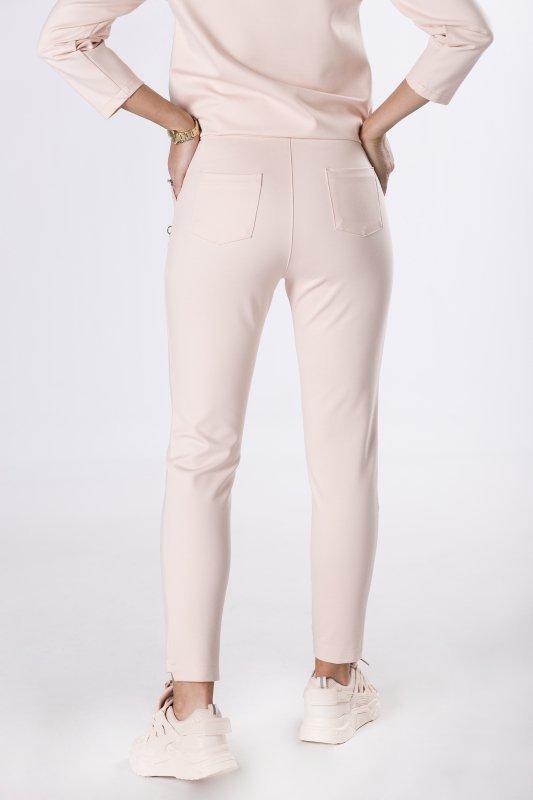 dresowe spodnie typu slim