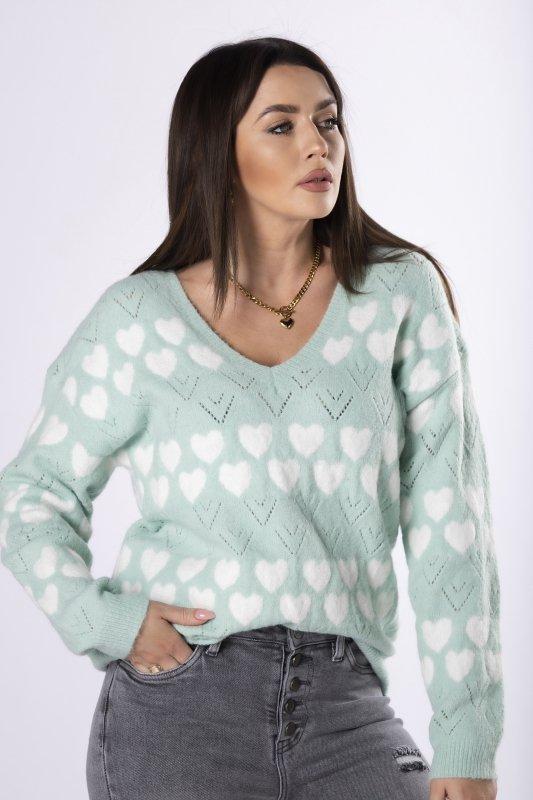sweter z printem