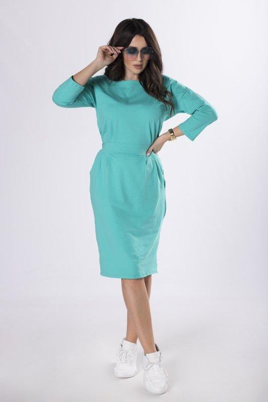 dresowa sukienka z wiązaniem