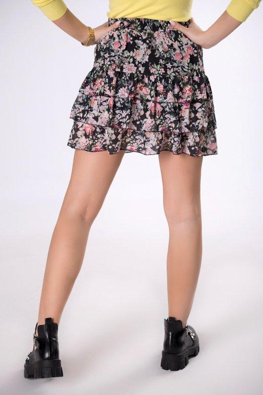 szyfonowa spódniczka mini