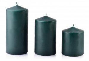 Świeca CLASSIC CANDLES Walec mały 8xh10cm zielona