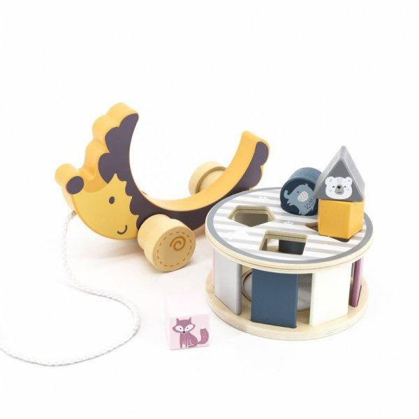 Jeżyk do ciągnięcia z sorterem 2w1 -  PolarB  - VIGA Toys