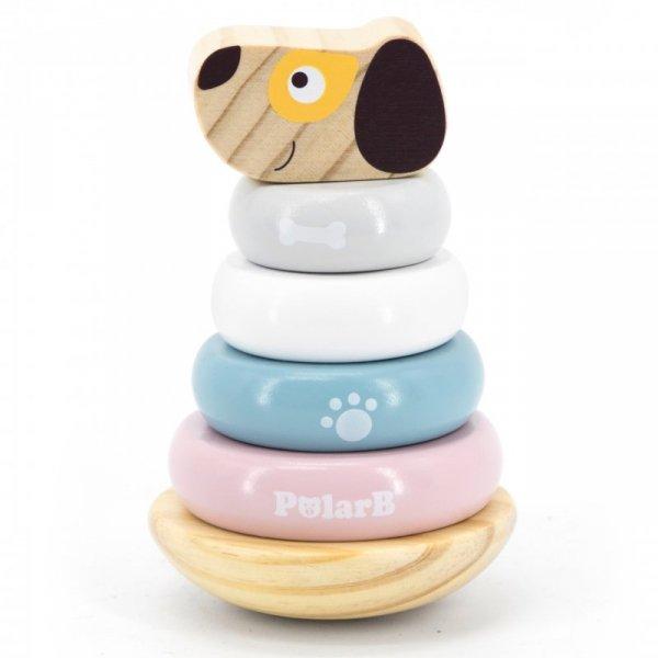 Drewniana Edukacyjna Układanka Wańka wstańka Piesek - Viga Toys