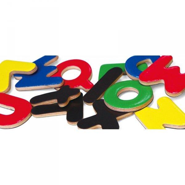 VIGA Drewniane Magnetyczne literki Magnes Uczymy się Pisać