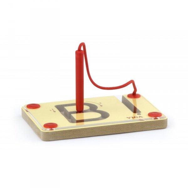 Tabliczki Magnetyczne Nauka Pisania Wielkie Litery - Viga Toys