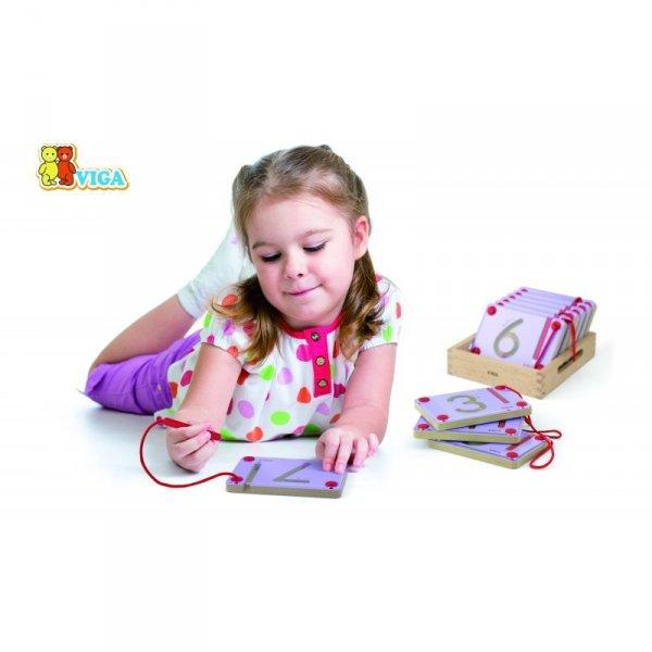 Tabliczki Magnetyczne Nauka Pisania Cyferki - Viga Toys