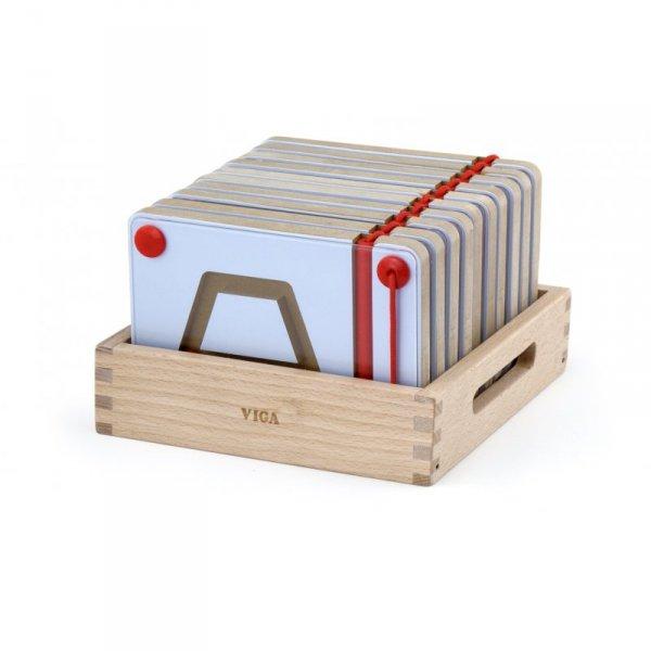 Tabliczki Magnetyczne Nauka Rysowania Figury Geometryczne - Viga Toys