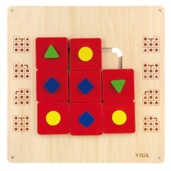 Drewniana Układanka ścienna Kształty - Viga Toys