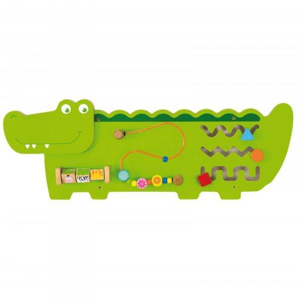 Sensoryczna Drewniana Tablica Manipulacyjna Krokodyl -  Viga Toys