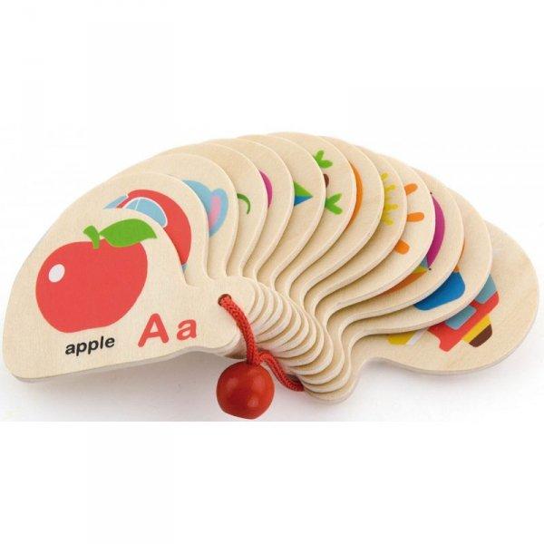 Drewniana Książeczka do Nauki Alfabetu i Angielskiego - Viga Toys