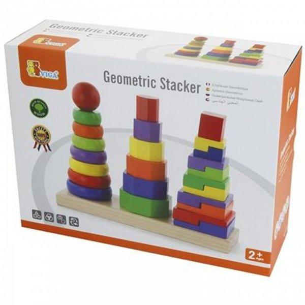 Drewniane klocki Układanka Piramidki - Viga Toys