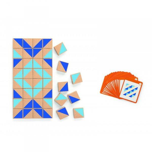 Drewniana Mozaika Klocki Drewniane Viga Toys Układanka Logiczna 40el