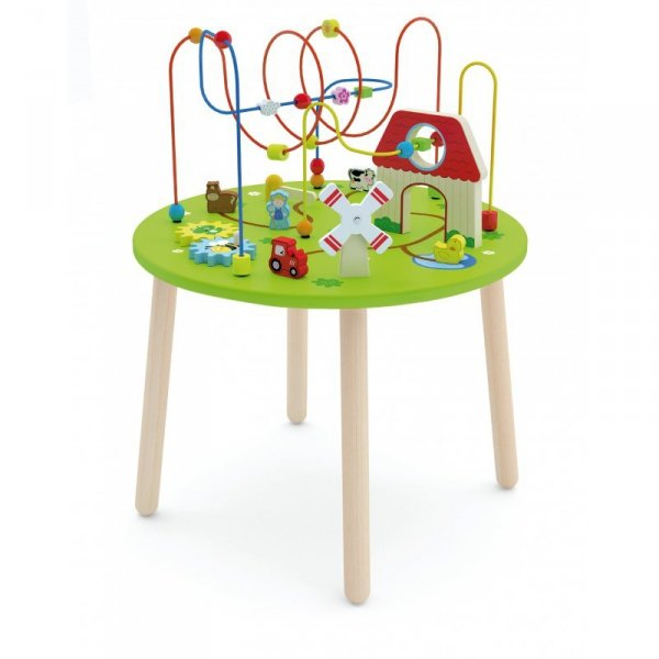 Drewniany Duzy stolik edukacyjny Farma Rollercoaster - Viga Toys
