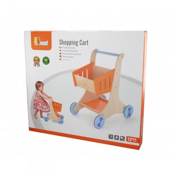 Drewniany Wózek sklepowy na zakupy - Viga Toys