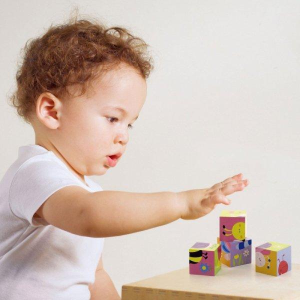 Drewniana układanka Farma Puzzle - 4 klocki - Viga Toys