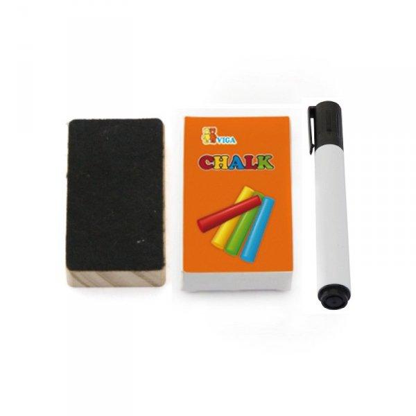Dwustronna Tablica edukacyjna do rysowania z liczydłem - Viga Toys