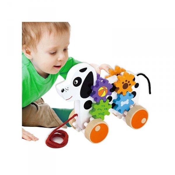 Drewniany Piesek Do Ciągnięcia - Viga Toys