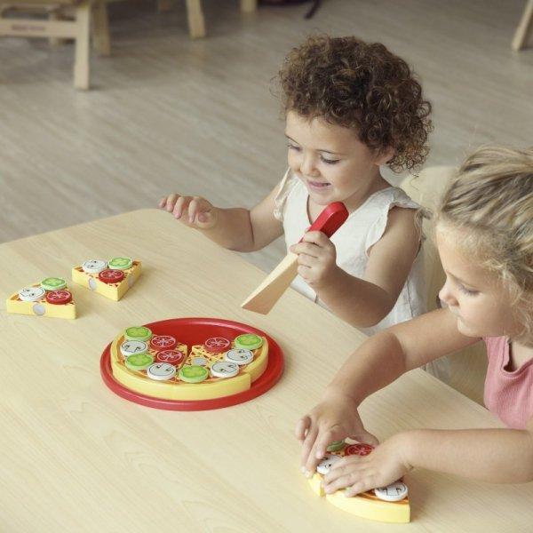 Drewniana Pizza do krojenia z dodatkami - Viga Toys