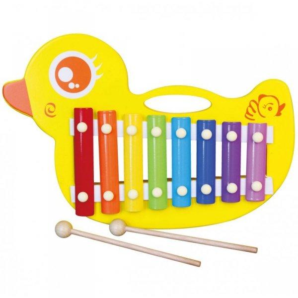 Drewniane Cymbałki kaczuszka - Viga Toys