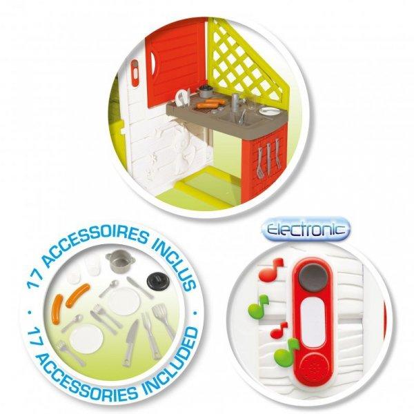 SMOBY Domek Ogrodowy Neo Friends z Kuchnią i stolikiem