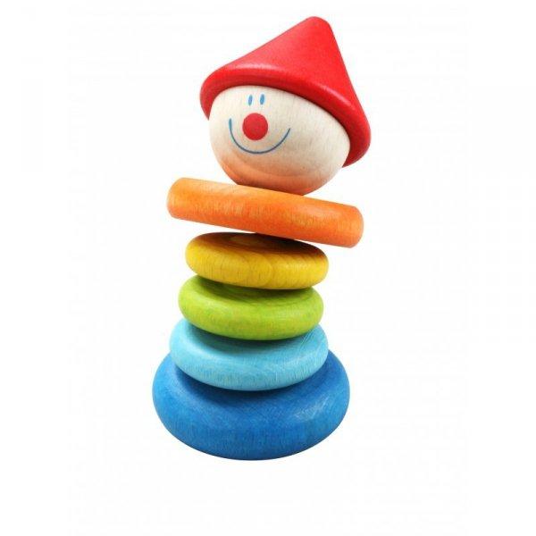 Drewniana Grzechotka Kolorowa klaun - Classic World