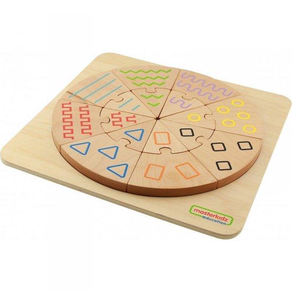 Sortowanie Dotykiem i Wzrokiem - Sorter Wzorów Tabliczka Edukacyjna - MASTERKIDZ