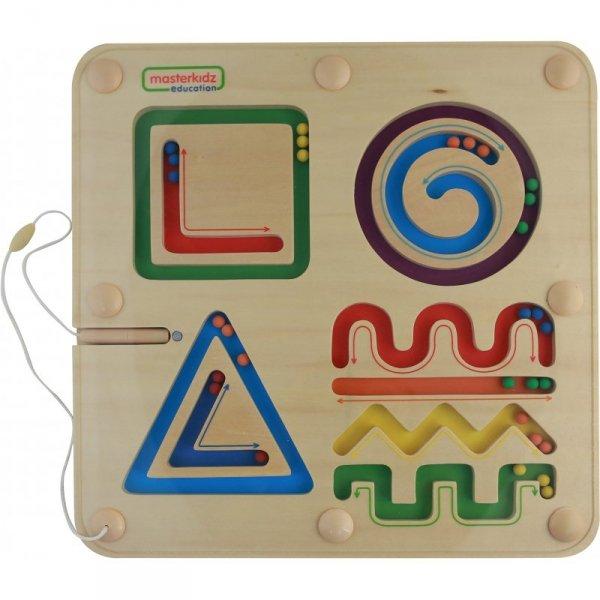 Magnetyczny Labirynt Linie Kształty Figury Geometryczne - Masterkidz