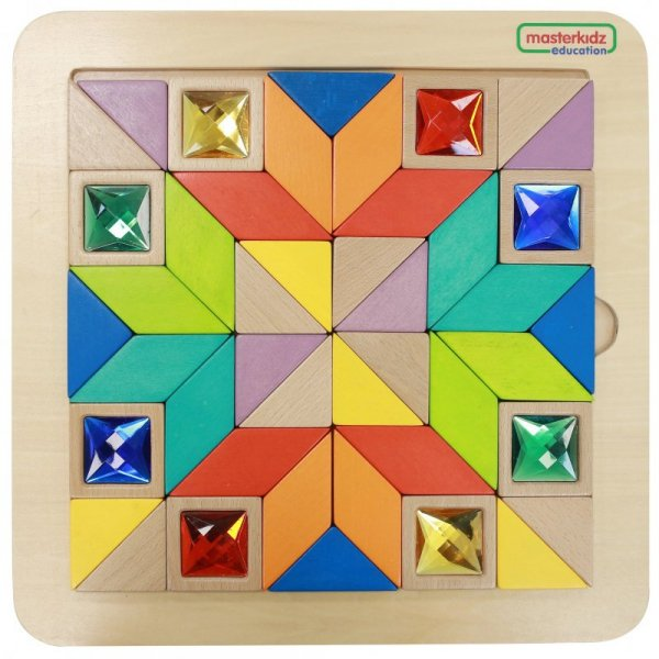 MASTERKIDZ Układanka Mozaika Nauka Kolorów i Kształtów Tangram